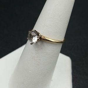 Vintage Jewelry - Vintage 10K White Sapphire Ring